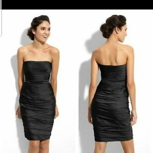 Monique Lhuillier Ruched Cocktail Dress Size 6